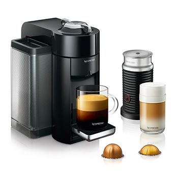 Nespresso - Vertuo by De'Longhi with Aeroccino Milk Frother, Classic Black
