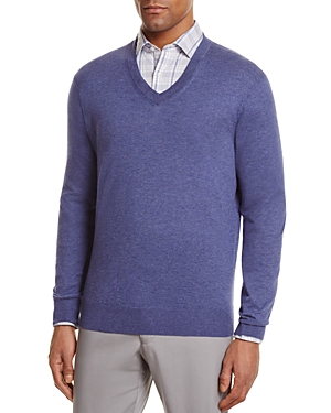 The Men's Store at Bloomingdale's V-Neck Cotton-Cashmere Sweater - 100% Exclusive