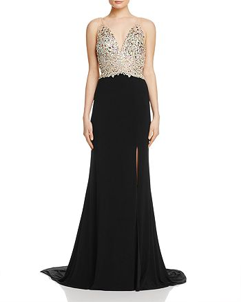Jovani Fashions - Embellished-Bodice Gown