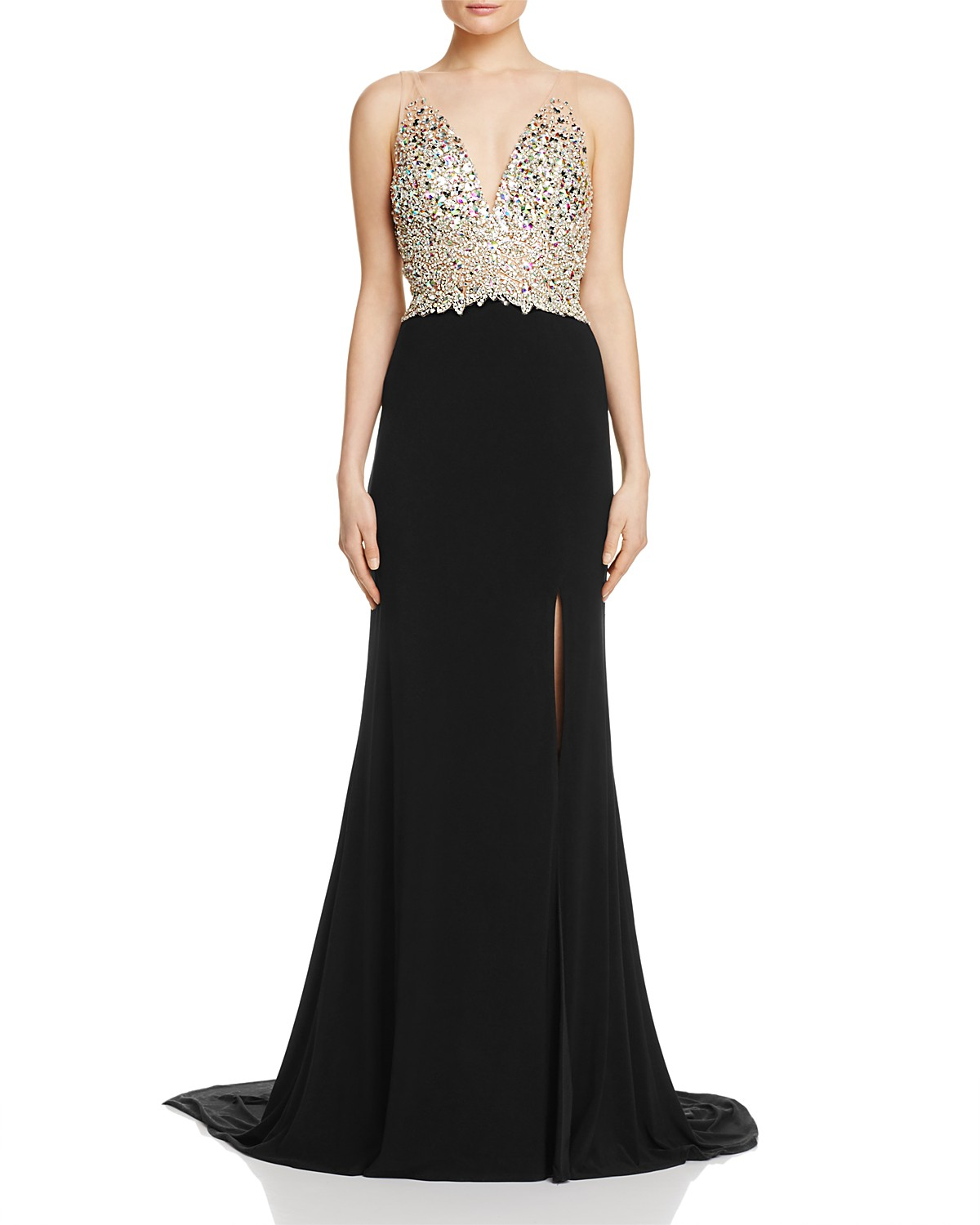 Jovani Fashions Embellished Bodice Gown Bloomingdales