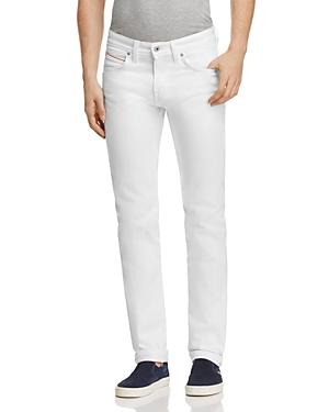 Naked & Famous Superskinny Guy Super Slim Fit Jeans in White