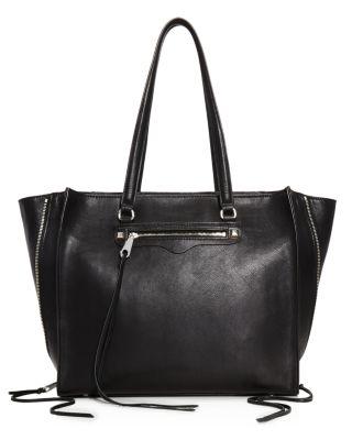 $Rebecca Minkoff Regan Always On Side Zip Leather Tote - Bloomingdale's