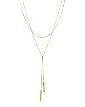 492c1baa84b3bb Bloomingdale's - 14K Yellow Gold Double Chain Tassel Lariat Necklace, ...