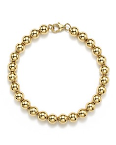 Bloomingdale's - 14K Yellow Gold Beaded Bracelet - 100% Exclusive