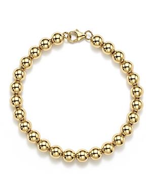 14K Yellow Gold Beaded Bracelet - 100% Exclusive