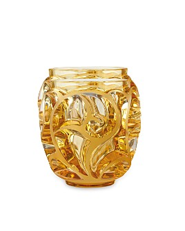 Lalique - Tourbillons Small Amber Vase