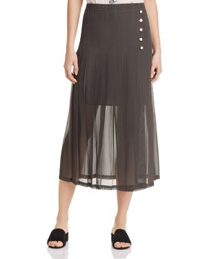 The Kooples Pleated Midi Skirt - 100% Exclusive