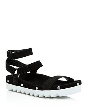 Rebecca Minkoff Elora Suede Studded Platform Sandals