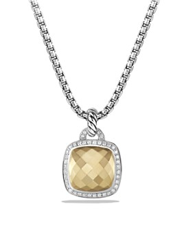 David Yurman - Albion Pendant with Faceted 18K Yellow Gold Dome and Diamonds