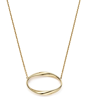 14K Yellow Gold Twisted Oval Pendant Necklace, 16 - 100% Exclusive