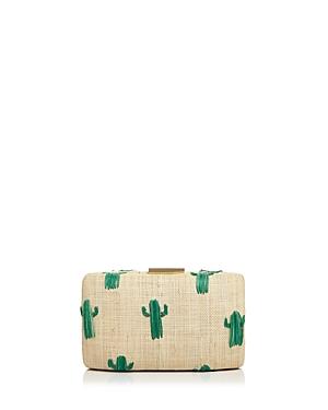 Kayu Cactus Straw Clutch