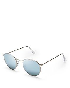Ray-Ban - Unisex Icons Mirrored Round Sunglasses, 50mm