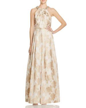 Eliza J Metallic Floral Gown