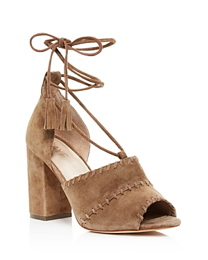 Raye Lainey Suede Lace Up High Heel Sandals
