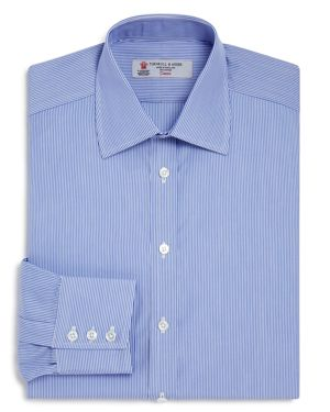 Turnbull & Asser Bengal Stripe Regular Fit Dress Shirt