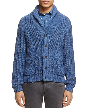 Brooks Brothers Shawl Collar Cable-Knit Cardigan Sweater