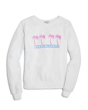 Wildfox Girls' Lazy Is My Middle Name Sweatshirt - Big Kid