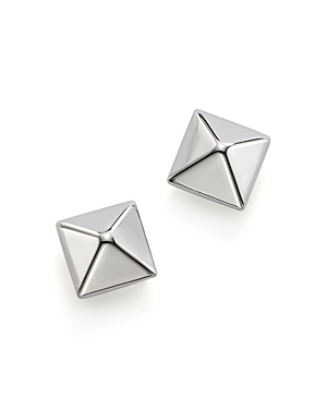 Bloomingdale's 14K White Gold Small Pyramid Earrings - 100% Exclusive