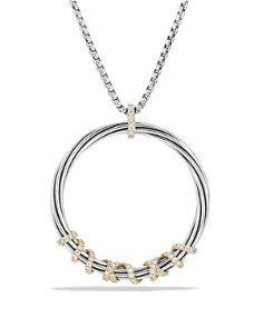 David Yurman - Helena Large Pendant Necklace with Diamonds and 18K Gold