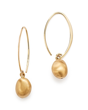 Bloomingdale's 14K Yellow Gold Satin Drop Threader Earrings - 100% Exclusive