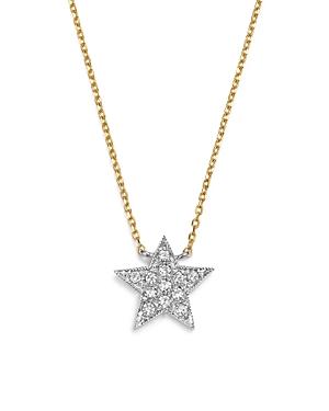 Dana Rebecca Designs Diamond Julianne Himiko Star Necklace in 14K White Gold with 14K Yellow Gold Ch