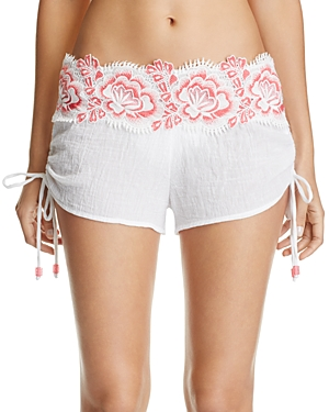 Isabella Rose Bouquet Swim Cover-Up Shorts