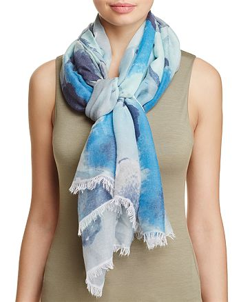 AQUA - Watercolor Floral Scarf - 100% Exclusive