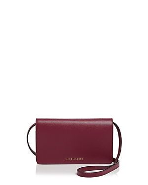Marc Jacobs Wallet On Strap Tricolor Saffiano Leather Crossbody
