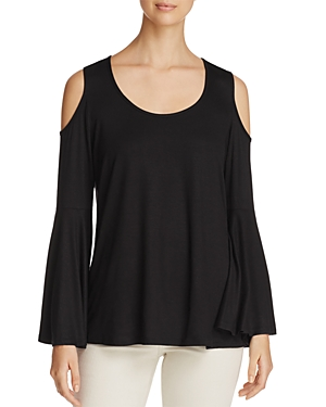 Alison Andrews Cold Shoulder Bell Sleeve Top