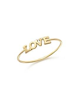 Zoë Chicco - 14K Yellow Gold Itty Bitty Love Ring