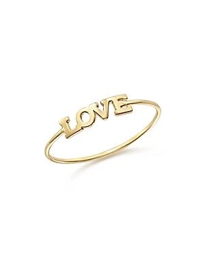 Zoe Chicco 14K Yellow Gold Itty Bitty Love Ring