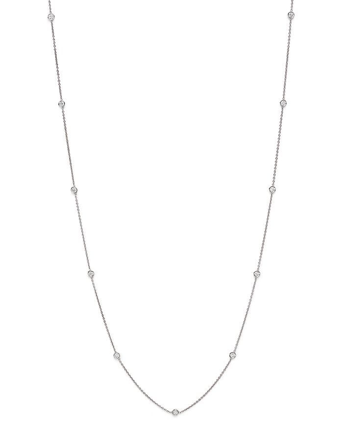 Bloomingdale's - Diamond Station Necklace in 14K White Gold, 1.50 ct. t.w.- 100% Exclusive