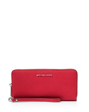Michael Michael Kors Jet Set Travel Continental Saffiano Leather Wallet