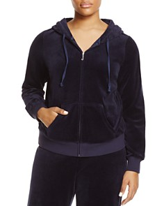 Juicy Couture Black Label Plus - Plus Robertson Velour Zip Hoodie - 100% Exclusive