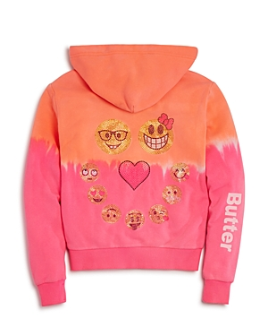 Butter Girls' Lava Wash Emoji Hoodie - Sizes S-xl