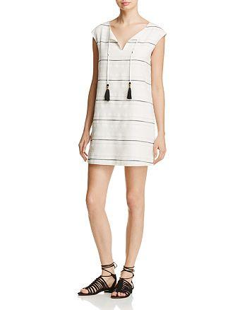 Cooper & Ella - Pietra Tasseled Striped Dress