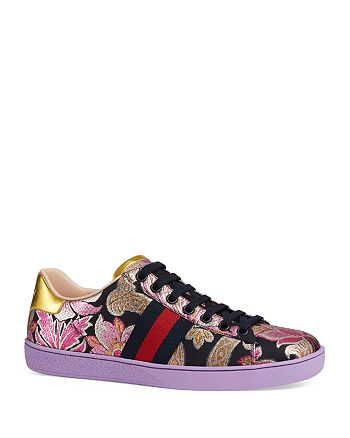 155d4666d7e Gucci - Ace Brocade Lace Up Sneakers