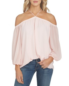 1.STATE - Cold-Shoulder Blouse