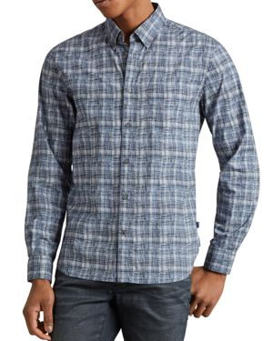 John Varvatos Star Usa Mitchell Plaid Slim Fit Button-Down Shirt