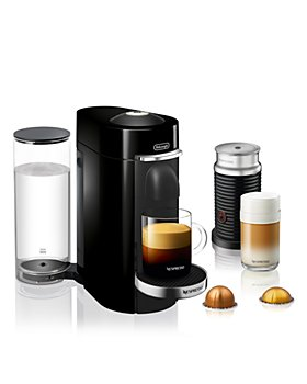 Nespresso - VertuoPlus Deluxe by De'Longhi with Aeroccino Milk Frother, Classic Black