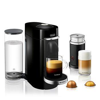 Nespresso - VertuoPlus Deluxe by De'Longhi with Aeroccino Milk Frother, Classic Black