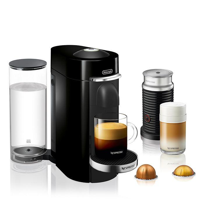 Nespresso - VertuoPlus Deluxe Coffee & Espresso Maker by De'Longhi with Aeroccino Milk Frother