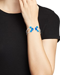 IPPOLITA - Sterling Silver Rock Candy® Wonderland Mixed Doublet Open Wire Hinged Bangle in Island