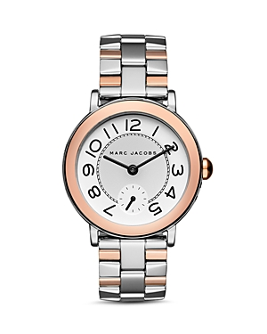 marc jacobs female marc jacobs riley twotone watch 36mm
