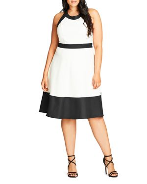 City Chic Pretty Mono Dress
