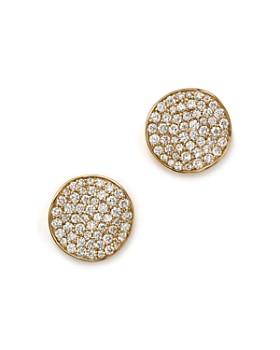 IPPOLITA - Ippolita 18K Gold Stardust Studs with Diamonds ... b6b30e750