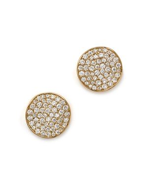 Ippolita 18K Gold Stardust Studs with Diamonds