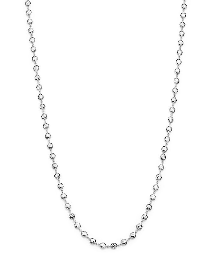"""IPPOLITA - Glamazon® Sterling Silver Flat Hammered Bead Necklace, 40"""""""