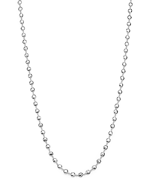 Ippolita Glamazon Sterling Silver Flat Hammered Bead Necklace, 40