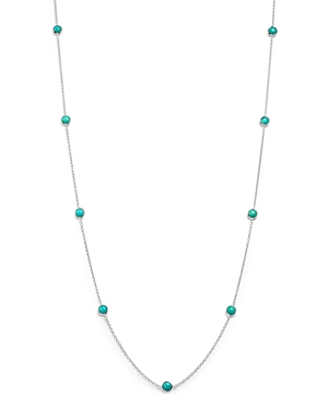 Ippolita Sterling Silver Rock Candy Long Stone Station Necklace in Turquoise, 48